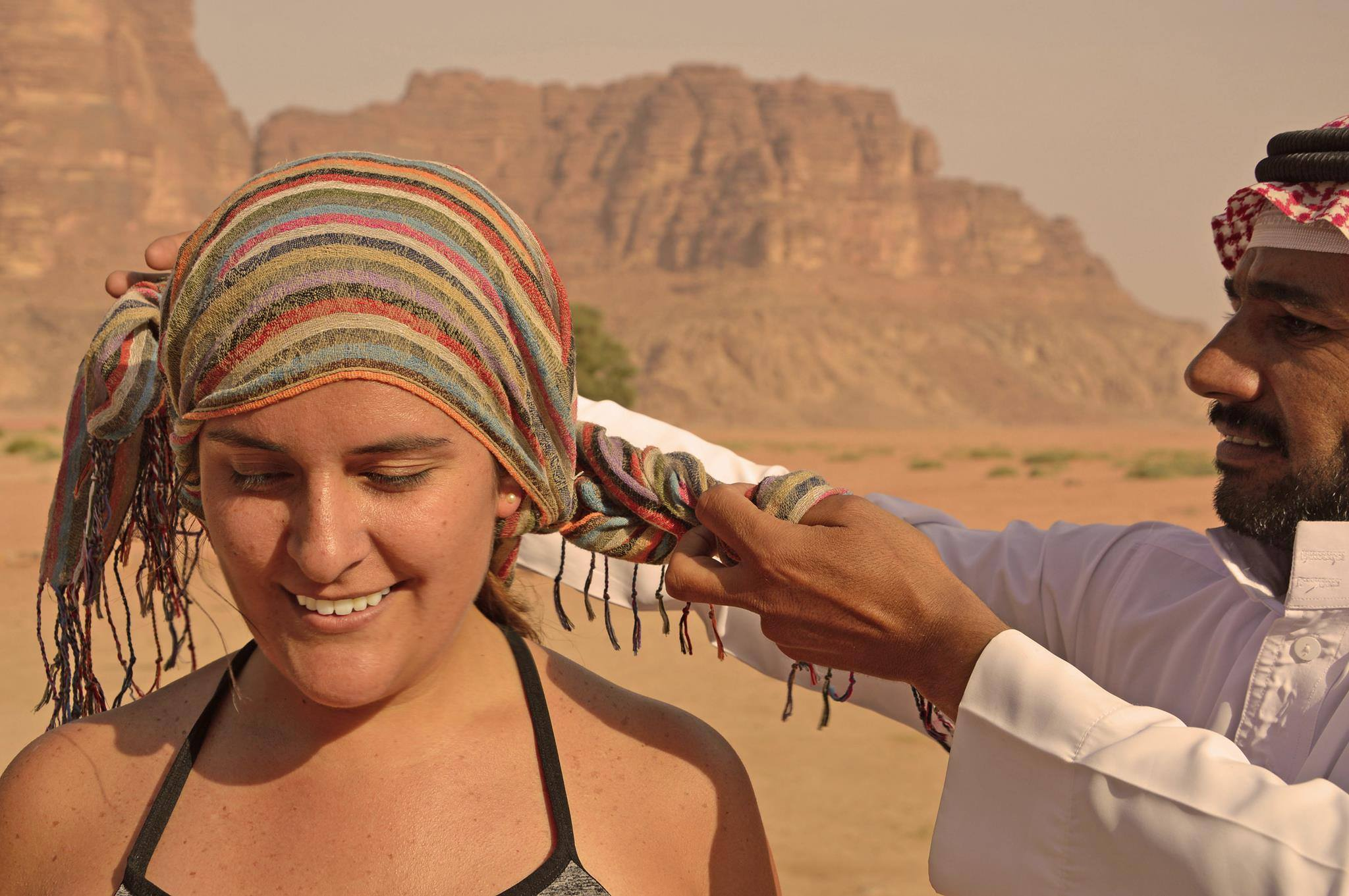 Digital nomad traveling and learning about local culture in Jordan
